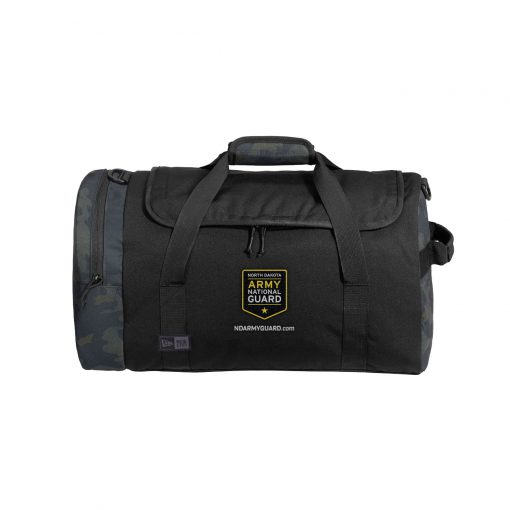 new era black mythic camo duffel bag